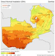 Map Of Zambia Renewable Energy Potential U2013 Recp