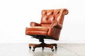 Leather Office Chair Vintage Tufted Leather Office Chair Vintage Supply Store
