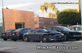 mercedes shop usa mercedes amg sls wrecked in california