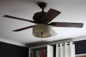 Light Shades For Ceiling Fans Try With Drum Shade Ceiling Fan Makeover Home Decor