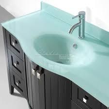 bridgeport 48 inch contemporary bathroom vanity mint green glass top