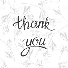 thank you thanksgiving lettering thank you vector illustration on floral background
