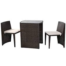Rattan Bistro Table Fds Rattan Bistro Set Balcony Coffee Table Chair Garden Furniture