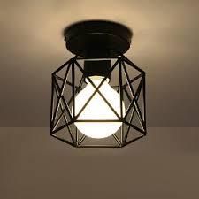 Wrought Iron Ceiling Lights Wrought Iron Semi Flush Ceiling Light Drum Fabric Shade