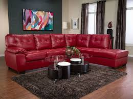 awesome red leather living room furniture and delighful red and