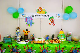 simple jungle baby shower ideas
