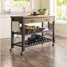 butcher block basic kitchen cart appliance carts mini bar wine