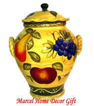 kitchen decor fruit design tuscany spice rack canister marcel