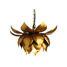 Lotus Pendant Light Gold Lotus Hanging Pendant L Chandeliers Gold Cost Plus World
