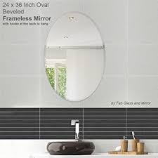 amazon com fab glass and mirror oval beveled polish frameless
