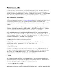 Sample Resume Supervisor Position Resume by Brilliant Ideas Of Warehousing Job Resume Warehouse Resume