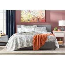grey upholstered beds you u0027ll love wayfair