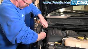 how to install repair replace hood support struts dodge ram 02 08