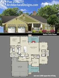 Prairie Home Plans by Plan 25402tf Modern Prairie Pleaser Bungalow Square Feet And