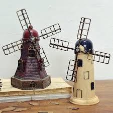 nostalgic windmill ornaments shop furnishing articles