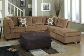 Leather And Suede Sectional Sofa Microfiber Sectional Happyhippy Co