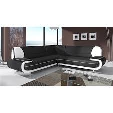 canapé angle design canapé d angle design noir et blanc marita xl achat vente