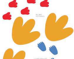 street printable footprints instant download