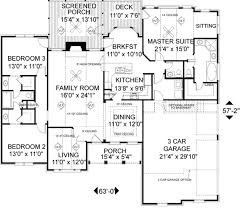southern style house plan 3 beds 2 5 baths 1992 sq ft plan 56