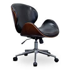 dobbins office chair bentwood walnut urban home for mid century