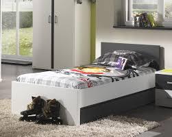 chambre moderne blanche lit enfant contemporain blanc et gris joss lit u0026 chevet enfant