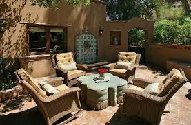 Southwestern Sconces Phoenix Outdoor Wall Fountains Patio Southwestern With Beige Chair
