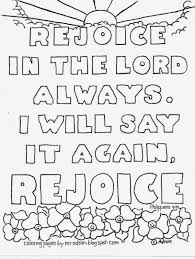 coloring pages for kids by mr adron rejoice in the lord always