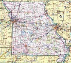 Map Of The United States With Cities Missouri State Map