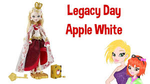 Ever After High Apple White Doll Ever After High Legacy Day Apple White Doll Review Youtube