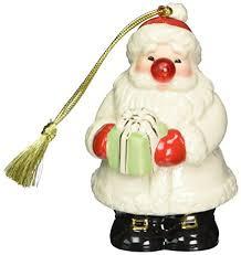 lenox blinking all the way santa ornament home kitchen