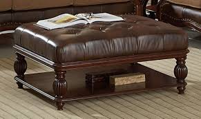 coffee table leather ottoman coffee table uk leather ottoman