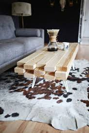 Leather And Wood Coffee Table Furniture Appealing Diy Cuboid Pine Wooden Coffee Table Using