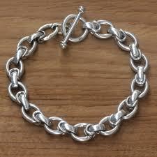 silver bracelet links images Men 39 s handcrafted sterling silver link bracelet brave knight jpg