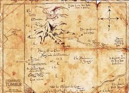 map hobbit thror s map the hobbit replica by on the moon on deviantart
