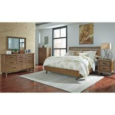 Ashley Bedroom Set With Leather Headboard Modern Rustic Solid Wood King Bed With Sleigh Headboard By