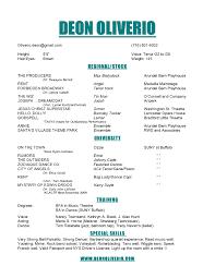 theatrical resume format resume format resume for study resume template