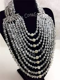 silver ball beads necklace images Bianca silver crystal beads rhinestone statement necklace set jpg