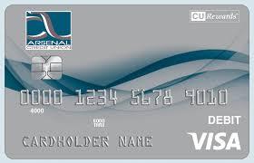 debit card arsenal credit union eservices debit cards