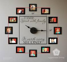 time spent with family wall clock diy for life