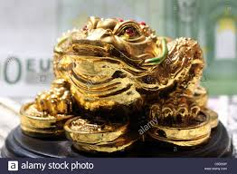 fengshui money frog symbol of luck in finance stock photo