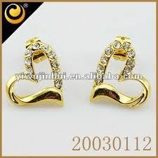 golden earrings american diamond jewellery golden earring designs for women buy