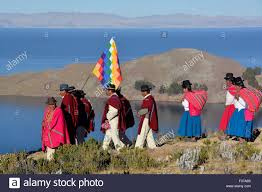 indios procession in traditional clothing at winter solstice new