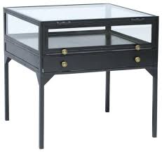 metal and glass end tables metal glass side table juniorderby me