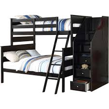 Black Wooden Bunk Beds Acme Alvis Wood Bunk Bed With Storage Black