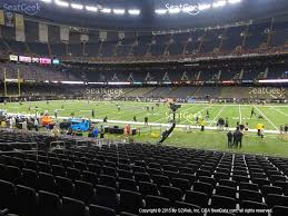 mercedes superdome mercedes superdome section 140 seat views seatgeek