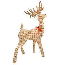 Animated Grapevine Deer Christmas Decor by Outdoor Reindeer Decorations You U0027ll Love Wayfair