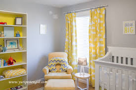 Yellow Nursery Curtains Cloud Themed Nursery For Baby Andrew Popular Color Schemes