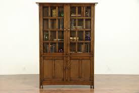 mission style oak kitchen cabinets craftsman style oak bookcase or kitchen pantry cabinet 30257