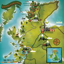World Map Scotland by Scottish Highlands Alexandre Verhille Map Scotland Uk