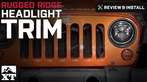 halo theme jeep jeep wrangler rugged ridge headlight trim 2007 2017 jk review